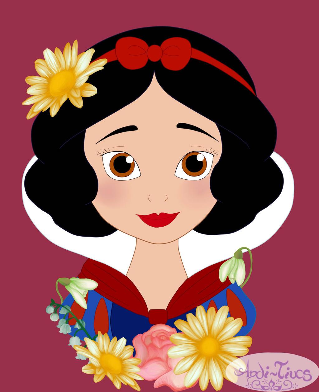 Flower Princess Snow White by Andi Tiucs on DeviantArt