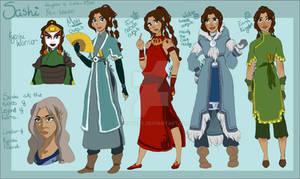 Sashi character outfit sheet