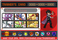 Cody's New Trainer Card by Poke-Master250