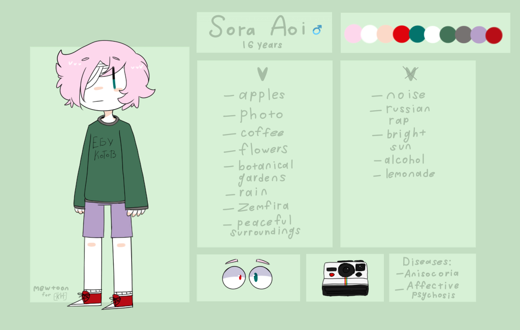Sora Aoi ref by mew-toon