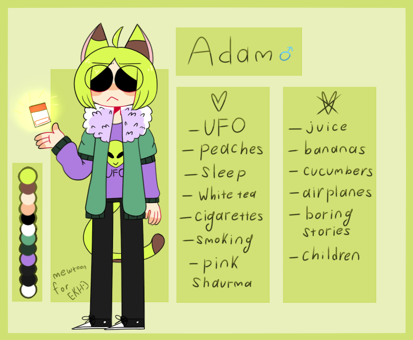 Adam ref by mew-toon