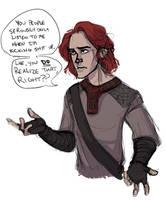Myth Loki Poses A Question by LessienMoonstar