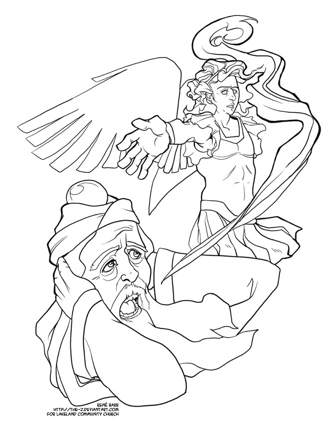 Advent Coloring Page - Zechariah