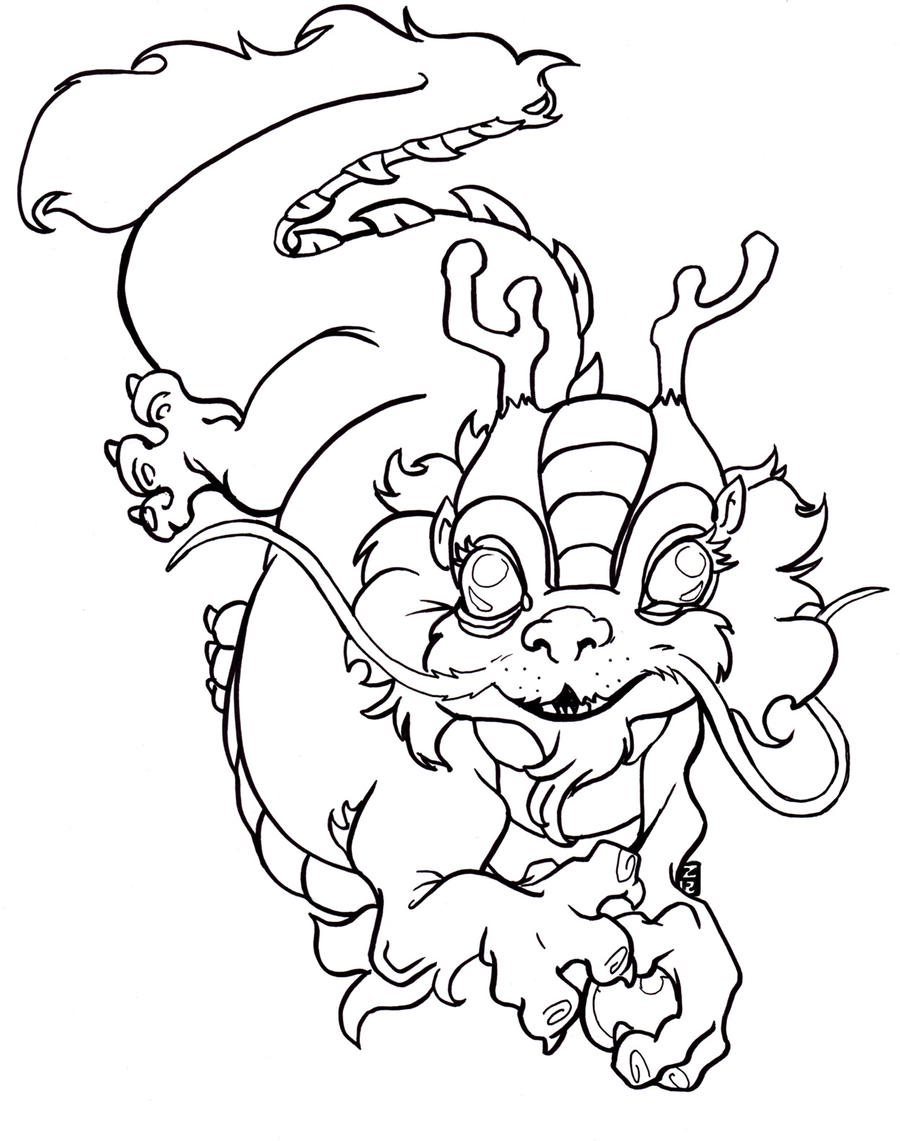 coloring pages chinese new year - photo#12