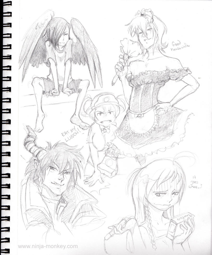 Devil Part-Timer sketch page by The-Z