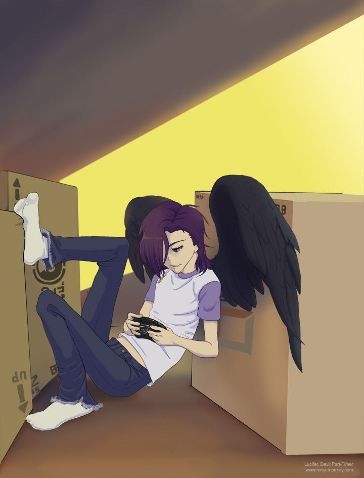 The devil is a part timer lucifer by the z on deviantart