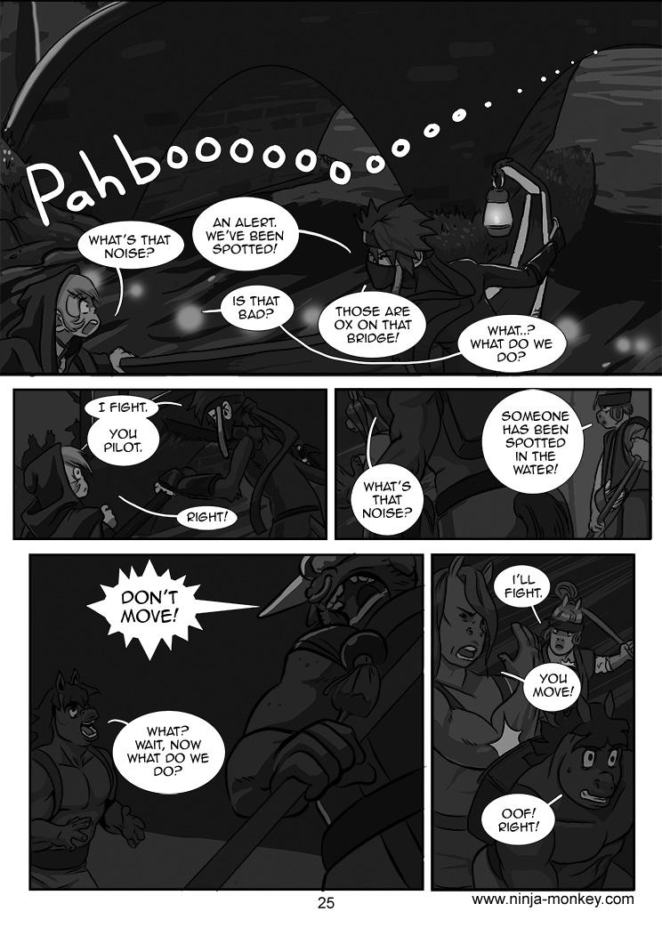 Ninja Monkey Comic, Ch. 3, page 25 by The-Z