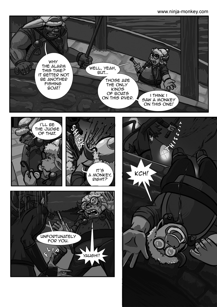 Ninja Monkey Comic, Ch. 3, page 26 by The-Z