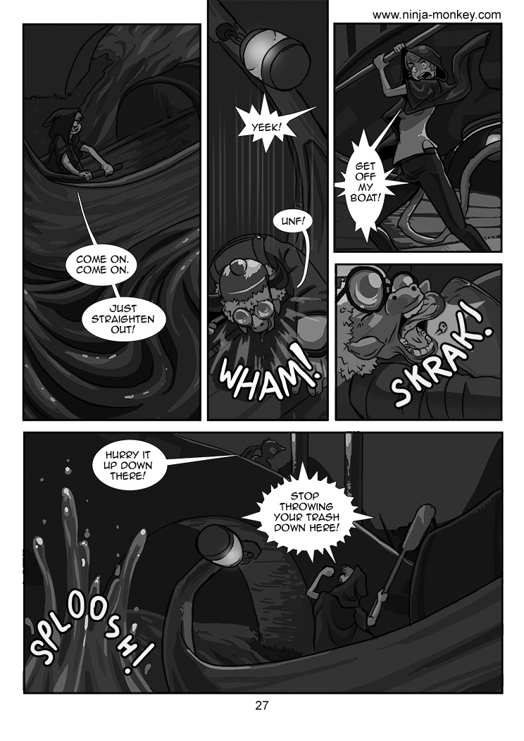 Ninja Monkey Comic, Ch. 3, page 27 by The-Z