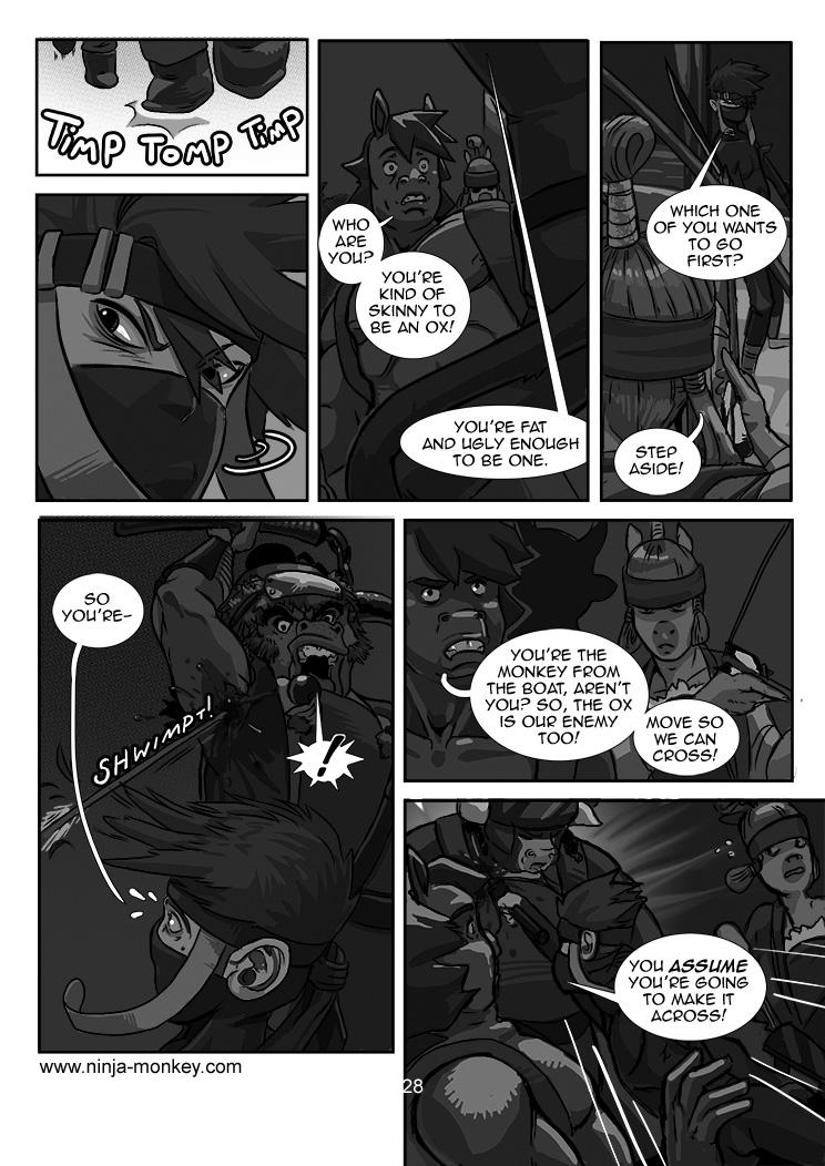 Ninja Monkey Comic, Ch. 3, page 28 by The-Z