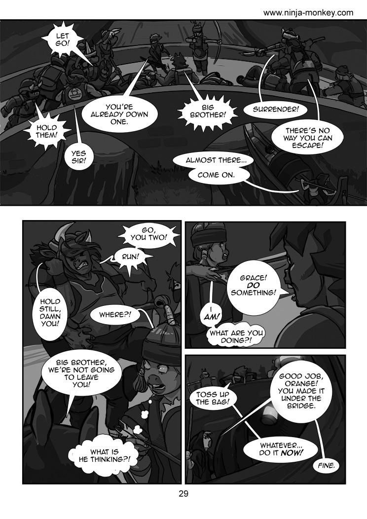 Ninja Monkey Comic, Ch. 3, page 29 by The-Z