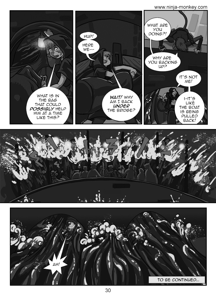 Ninja Monkey Comic, ch. 3, page 30 chapter finale by The-Z