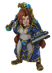 Character Commission -- WoW Dwarf by The-Z