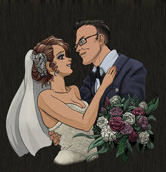 Commission portrait-- wedded couple by The-Z