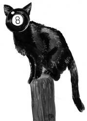 Inktober -- 8Ball Cat