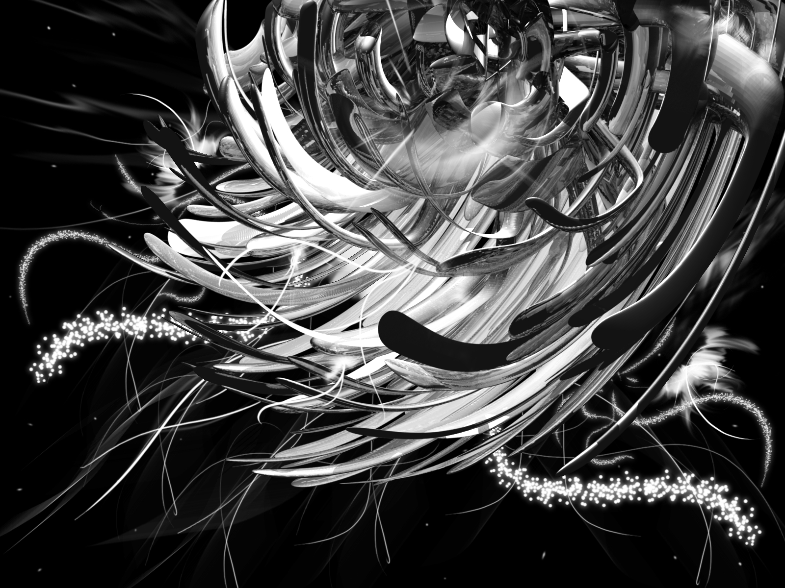 Silver 3d wallpapers for Black and silver 3d wallpaper