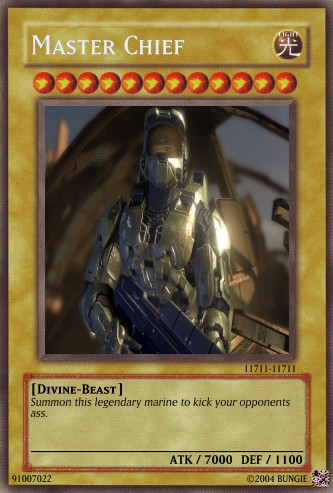 Master Chief the card by halomerchant