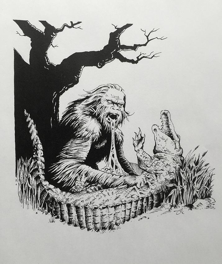 Bigfoot vs. Gator by Rockstaricky
