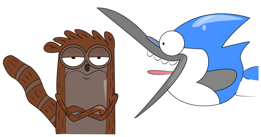 Mordecai and Rigby Vector by KarmaKira
