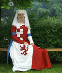 Mi-Parti dress 1 by Lady--Eowyn