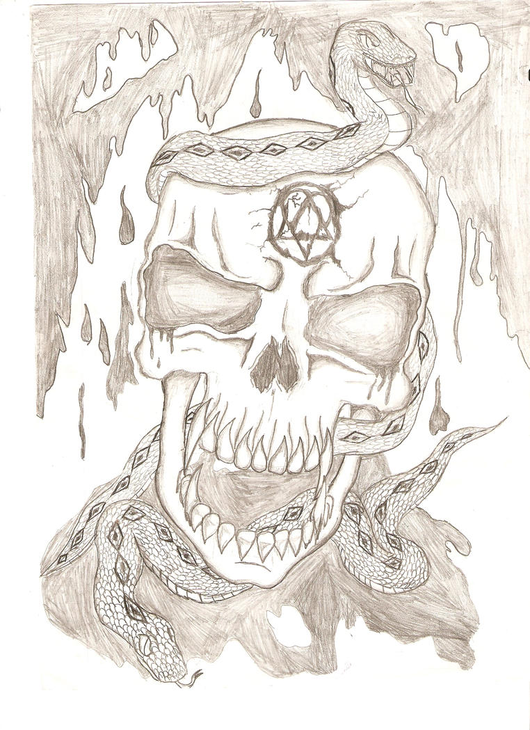 an epic skull by sk8rdude68 on deviantart