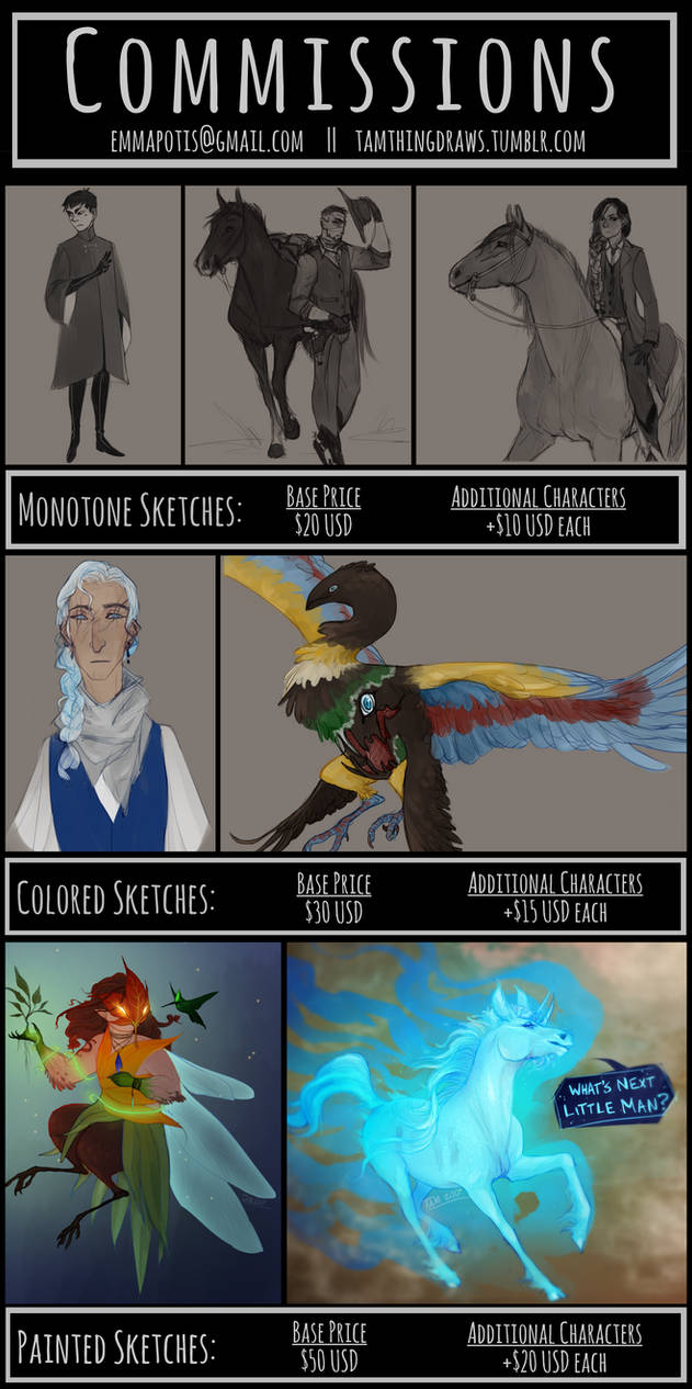 2017 Commission Info - C L O S E D by TamHorse