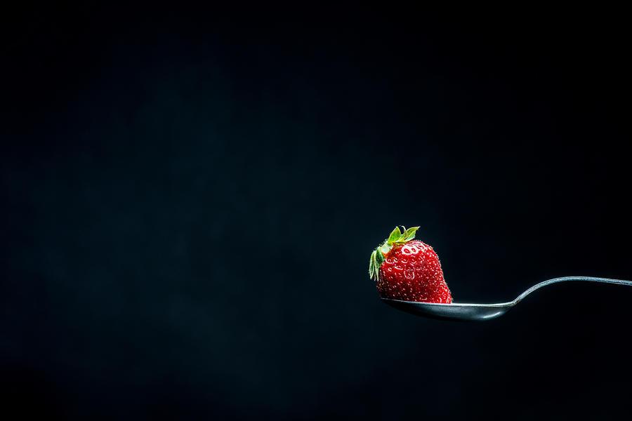 strawberry on spoon by JordanRobin