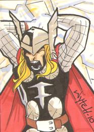Thor sketchcard by supamarioman