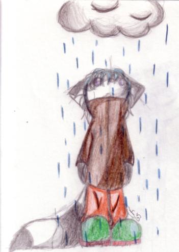 Retsu in the Rain by RetsuMatsuro