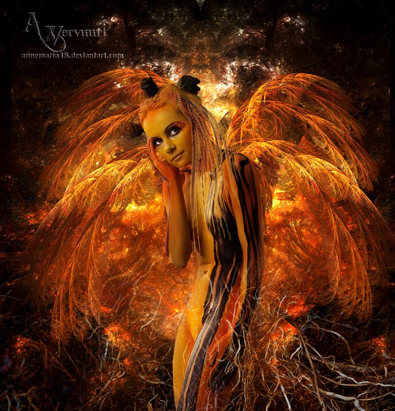 Orange Body Paint Body Paint Angel by