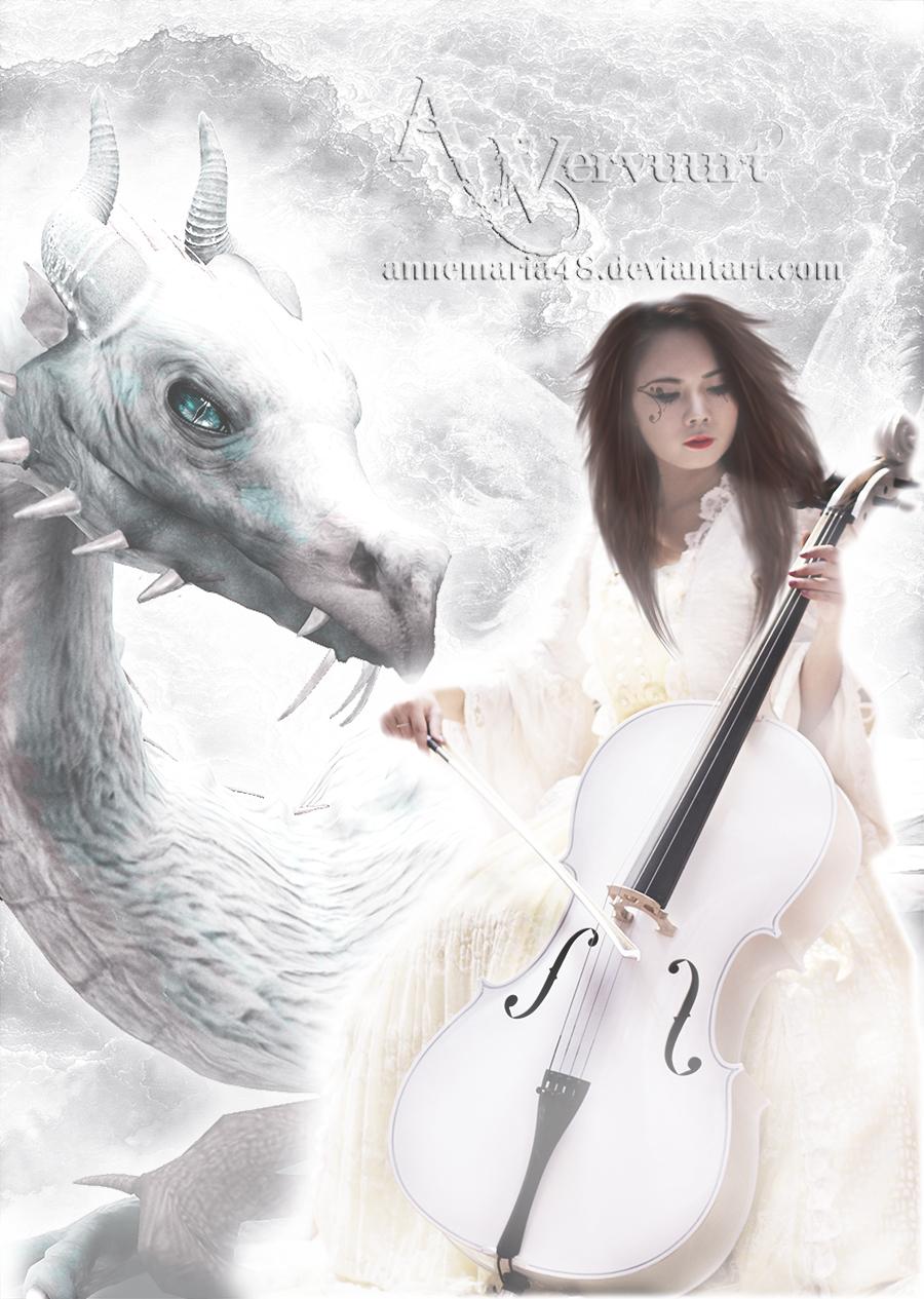 Violin with my Dragon friend by annemaria48