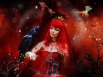 The Red Lady with her Bird