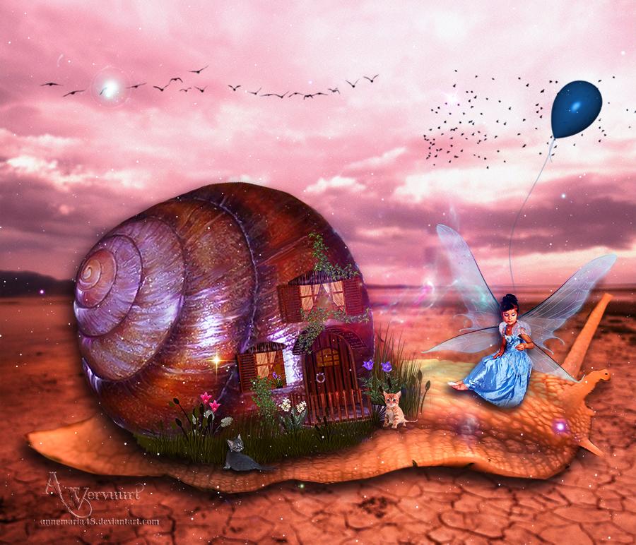 Snail travel by annemaria48