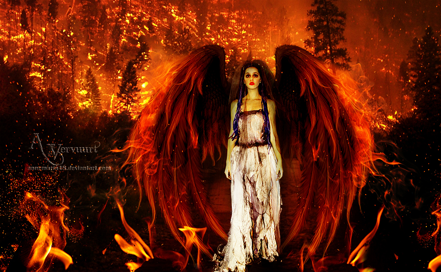 Fire forest by annemaria48