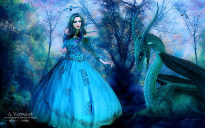 The elf and the Dragon by annemaria48