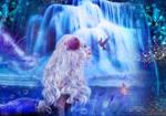 Mermaid By Waterfall