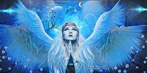 Angel praying by annemaria48