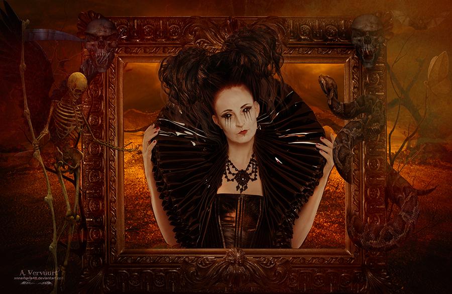 The dark woman