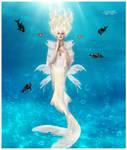 The white mermaid queen