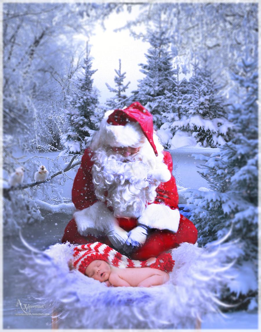 Santa  Child Born