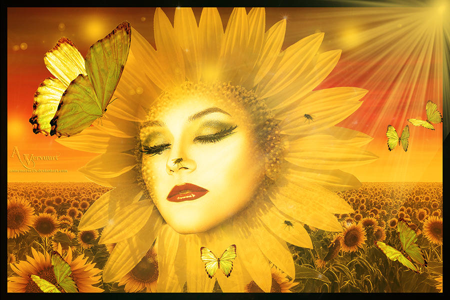 The sunflower lady by annemaria48