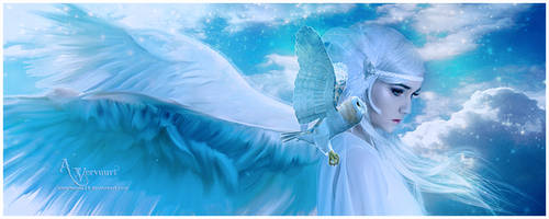 The light bleu angel by annemaria48