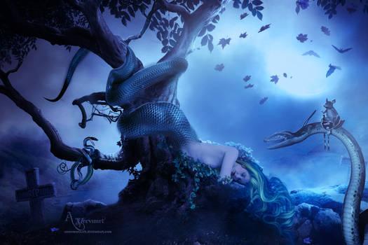 Snake woman fantasy