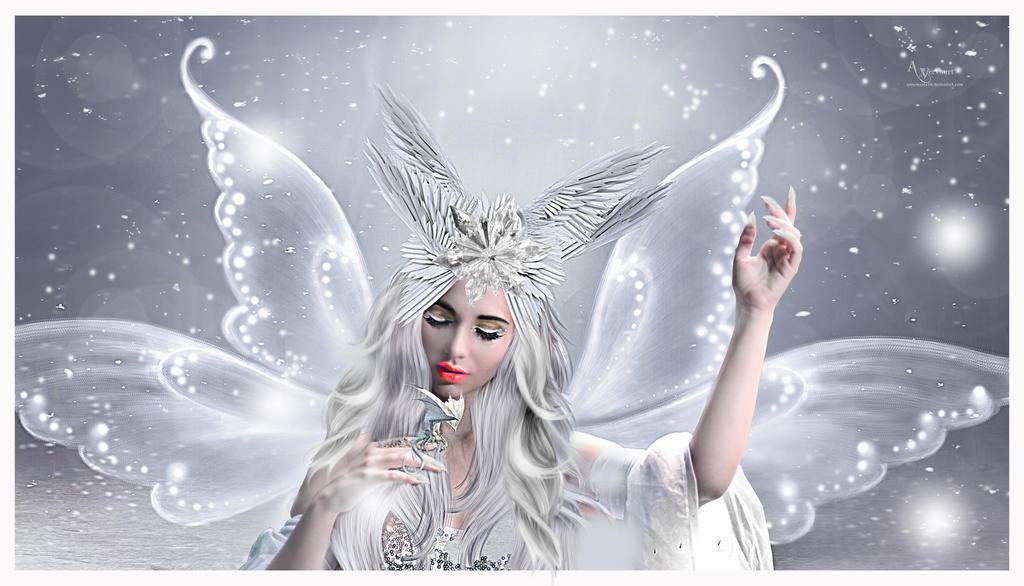 The fairy white angel