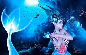 The neon mermaid by annemaria48