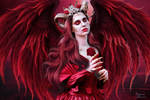 The red beauty angel