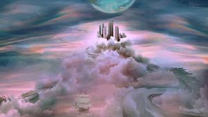 Tower cloud city