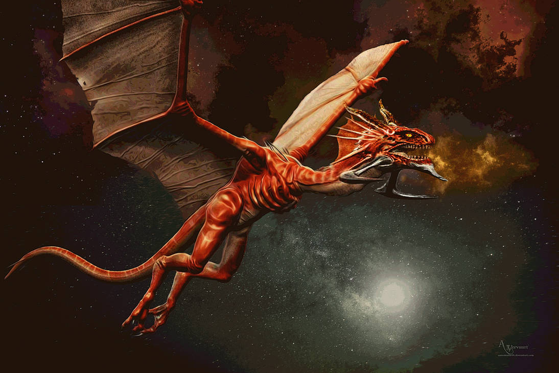 Red space dragon