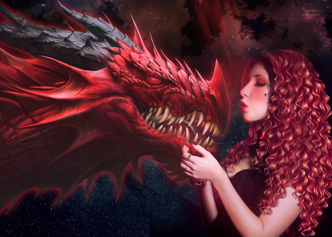 REd dragon girl