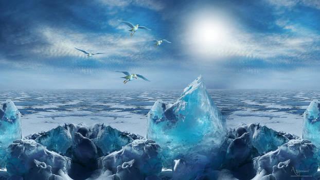 The ice beauty landscape